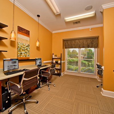 Executive business center with private conference room