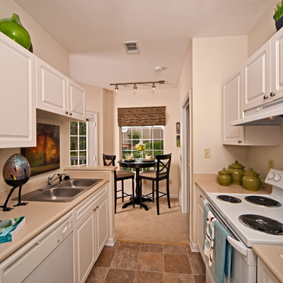 Kitchen has designer white-on-white appliances