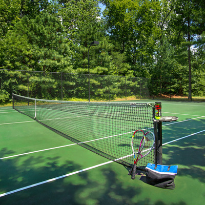 Tennis court and walking trail